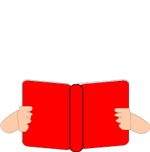holding book